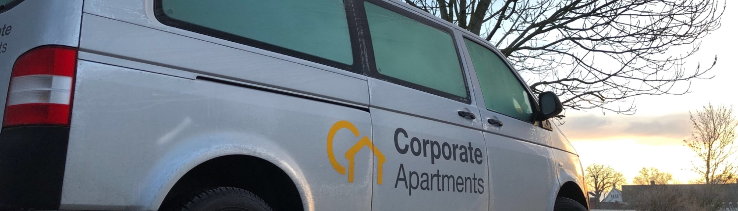 Corporate Apartments van early morning